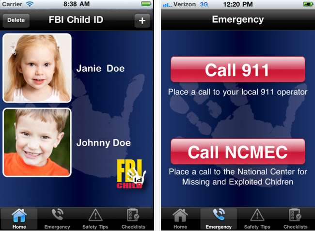 FBI Child ID Phone App to Locate Missing Children