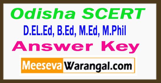 Odisha SCERT Answer Key 2017