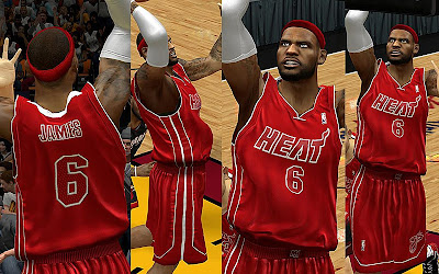 NBA 2K13 Miami Heat Big Color Jersey