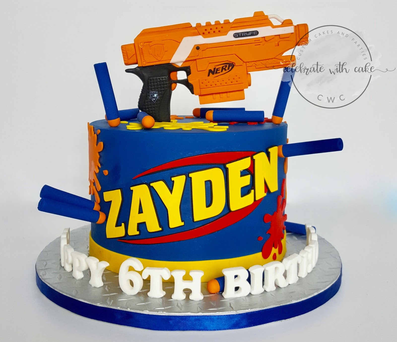 Celebrate with Cake Nerf Gun and Bullets
