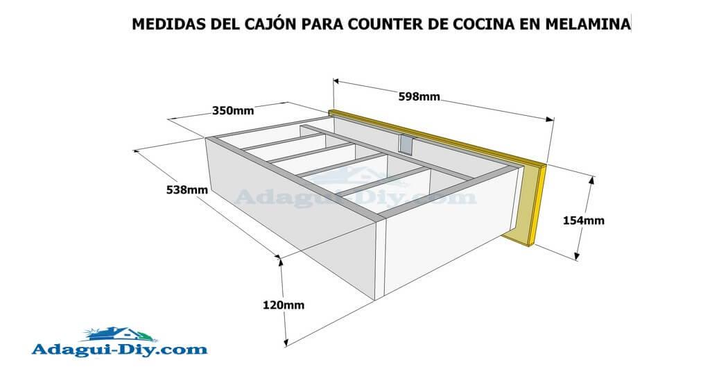 Como hacer muebles de cocina en melamina plano detallado for Planos de muebles de madera pdf