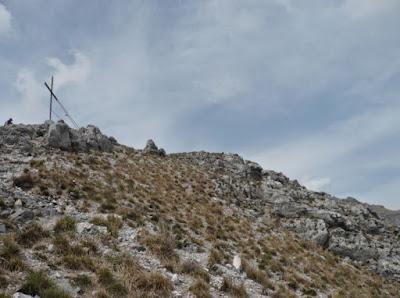 La vetta del Monte Forato