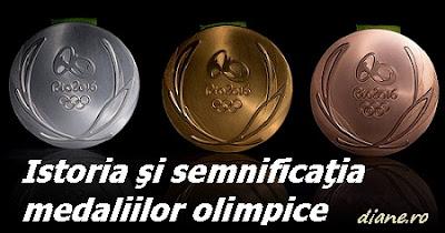 Istoria şi semnificaţia medaliilor olimpice