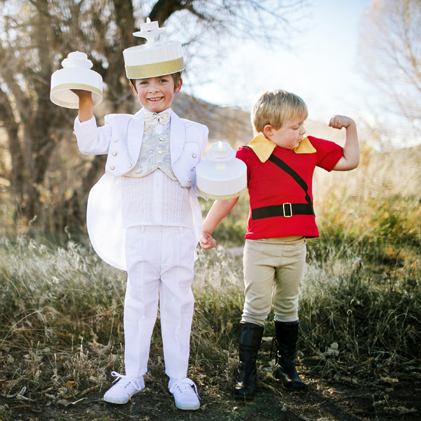 Lumiere and Gaston kids' halloween costumes