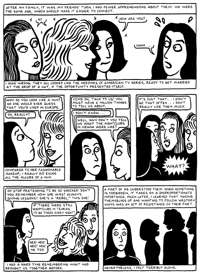 Read Chapter 11 - The Joke, page 105, from Marjane Satrapi's Persepolis 2 - The Story of a Return