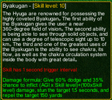 naruto castle defense 6.0 Byakugan detail