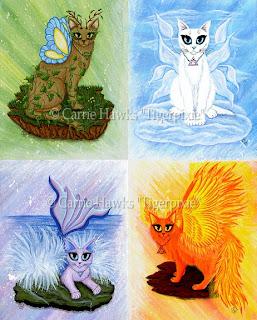 Elemental Cats Fire