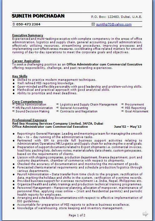 Awesome Resume In Dubai Accounts Composition - Resume Ideas - bayaar ...