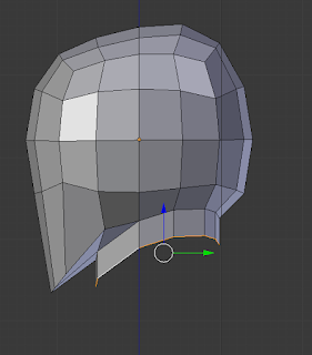 Extrude the neck.