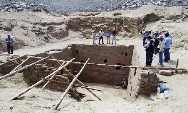Hallan monumental tumba de época inca en sitio arqueológico de Mata Indio