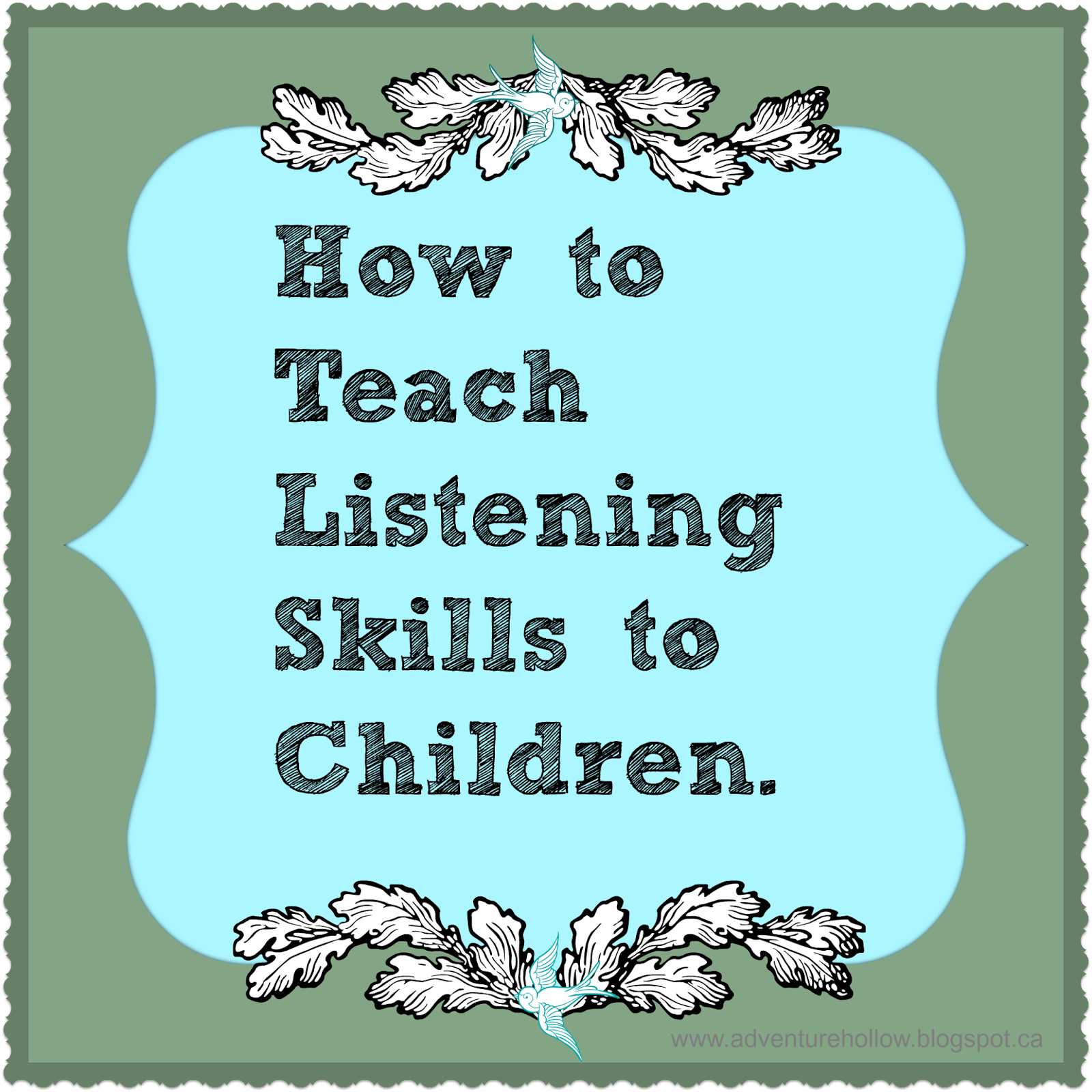 How To Teach Listening Skills To Children