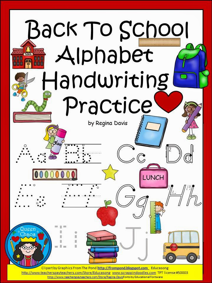 http://www.teacherspayteachers.com/Product/A-Back-To-School-Alphabet-Handwriting-Practice-1382508