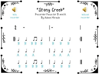 Stony Creek: A recorder freebie for BAG! Check out other elementary music ideas in this post!