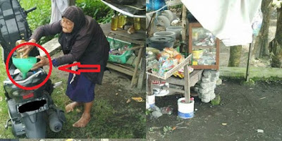 SUBHANALLAH...Nenek Kemi Penjaga Warung Penjual Bensin yang Sering Ditipu Orang..!!