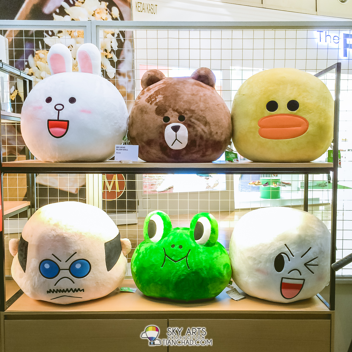 LINE huge size Plush Doll at LINE Friends Pop-Up Store