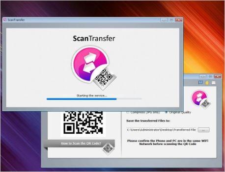 نقل الملفات بين الهاتف والحاسوب Scantransfer احدث اصدار