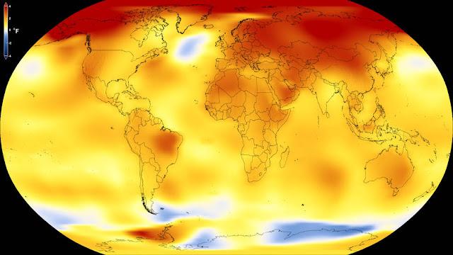 2017 foi o segundo ano mais quente da história segundo a NASA