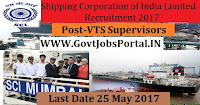 Shipping Corporation of India Limited Recruitment 2017– VTS Supervisors