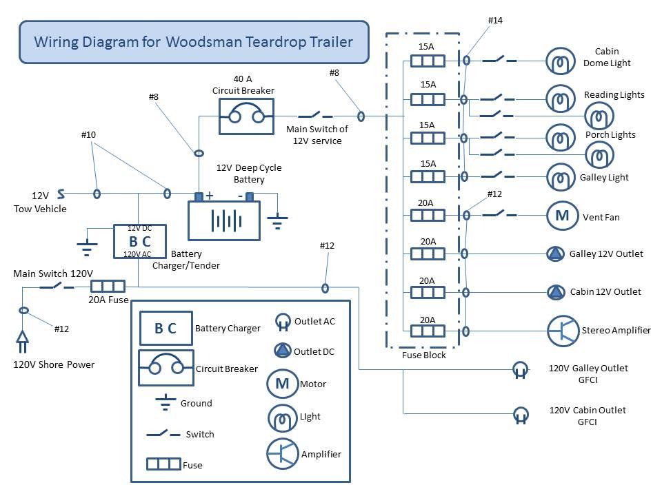 Teardrop Camper Wiring Diagram 12v Trolling Motor Chuck S Build Electrical