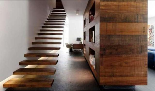 Tangga rumah tingkat type 36 sederhana 2 minimalis terbaru termewah tinggal tinggi 4 meter dari kayu lantai sempit sakit simpel susun stainless stenlis steel simple