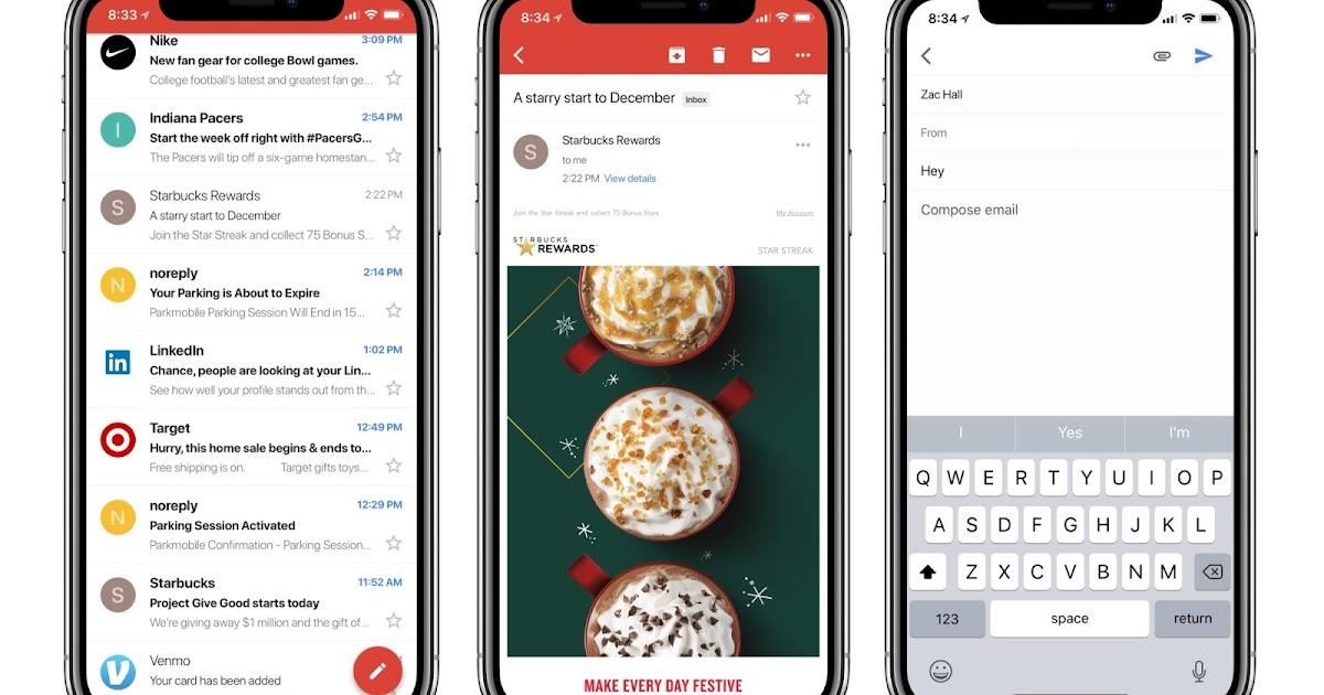 Gmail 更新支援 iPhone X:全螢幕爽看郵件