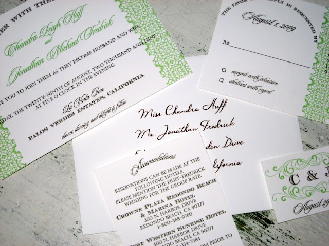 wedding invitation suite of oh lovely day by tilde designs