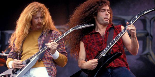 Marty Friedman y Dave Mustaine en Megadeth