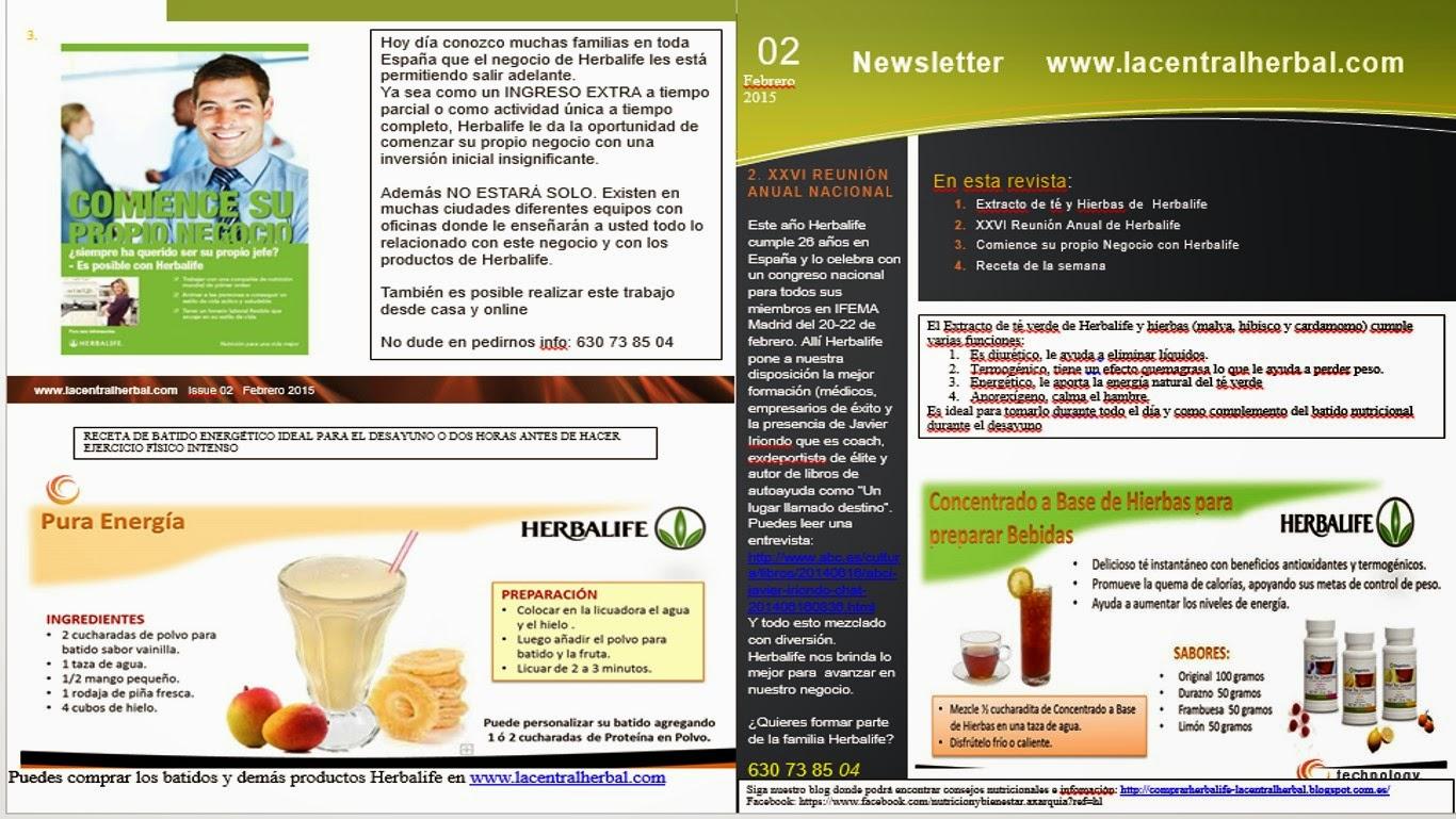 Consejos generales de perdida de peso herbalife