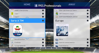 PES 2017 PES Professionals Patch 2017 AIO Season 2018/2019