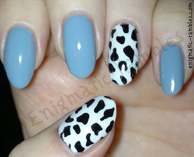 Cow-Print-Accent-Nails