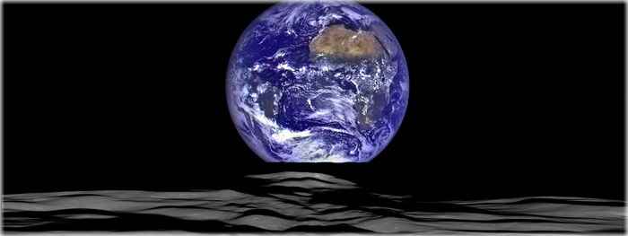 nascer da terra visto da lua