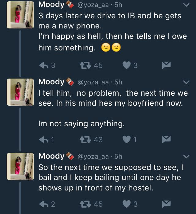 Lady narrates her hilarious experience with her ugly but rich lover