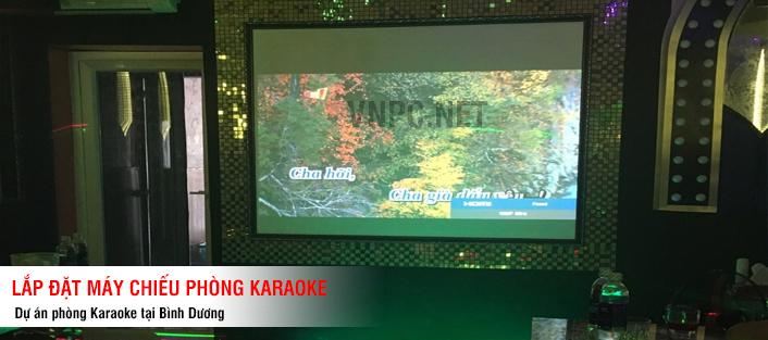 Lắp máy chiếu cho phòng karaoke