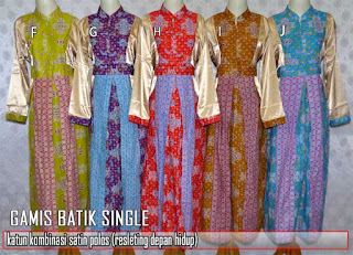 Gamis batik wanita desain cantik dan elegan