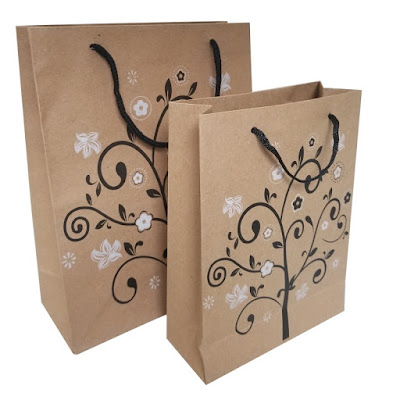 Shop Nile Corp Wholesale Black and White Tree Kraft Paper Gift Bag