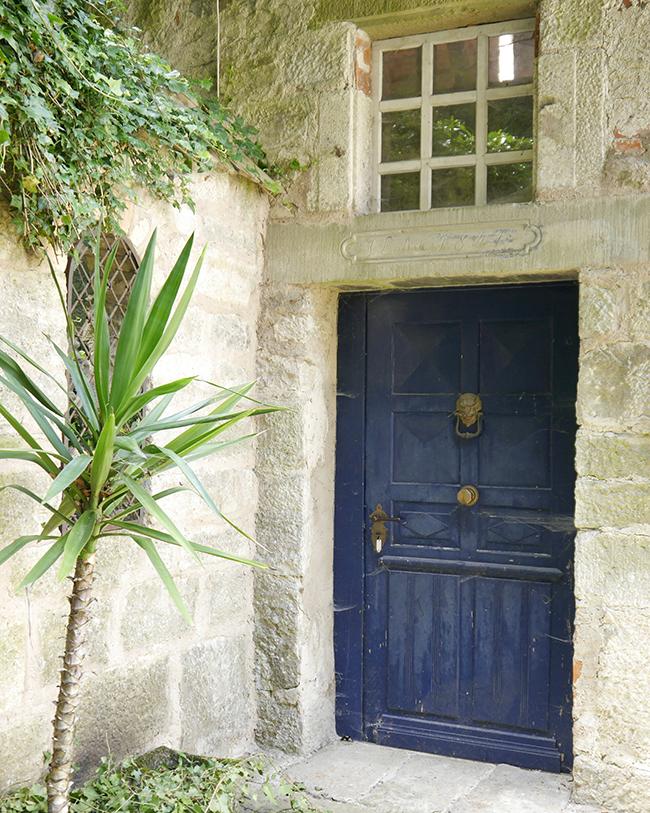 Vellberg, Baden-Württemberg, door, blue, blau, Tür