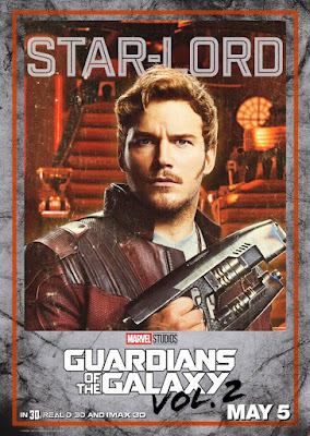 Star Lord Guardians of the Galaxy Vol 2 character poster