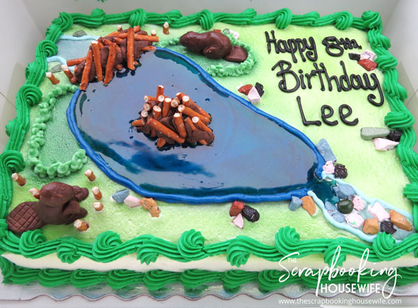 BEAVER-THEMED 8th BIRTHDAY PARTY CAKE