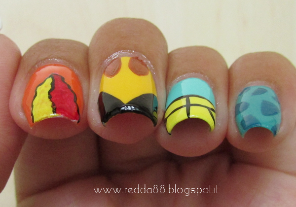 Pokemon nail art, pokemon go