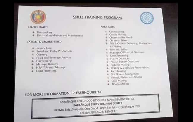 25+ Skill training program for free (TESDA Accredited)