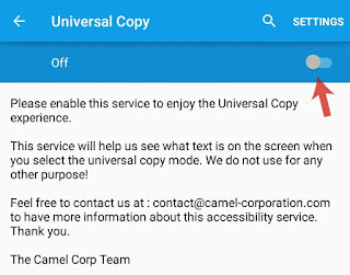 Enable Universal Copy service