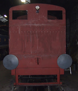 Rear view of cab