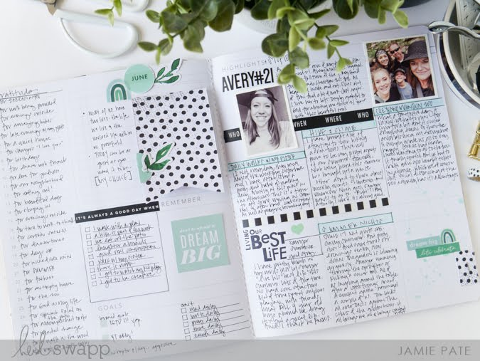Heidi Swapp Storyline Chapters Planner Highlights Page by Jamie Pate