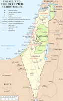 Map of Israel today