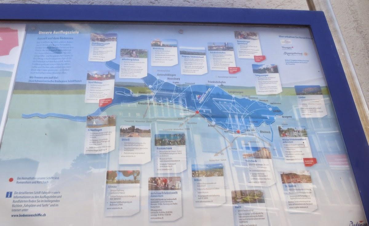 Romanshorn - Ausflüge per Schiff auf dem Bodensee