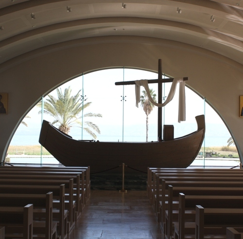 magdala church boat altar