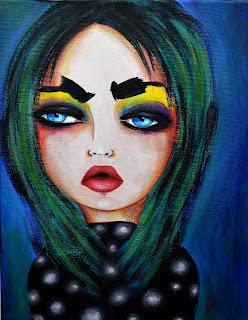 Bebee Pino - Candy - acrylics on canvas