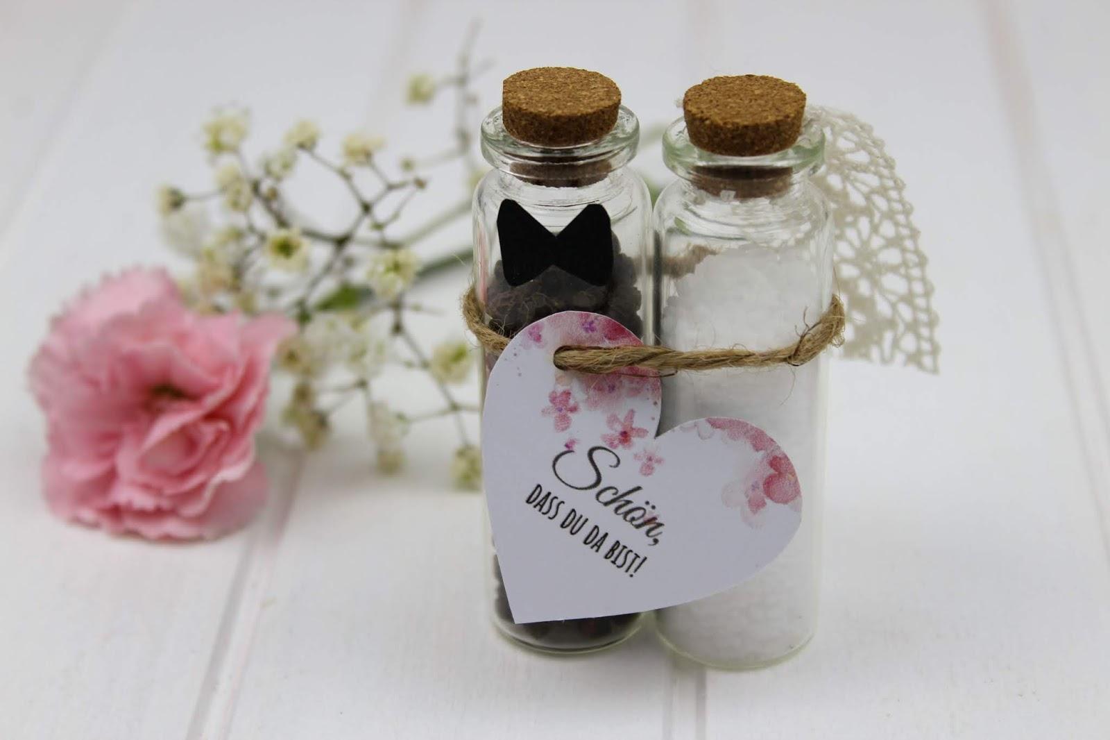 DIY - Gastgeschenk Pfeffer und Salz für die Hochzeit ganz einfach selber machen