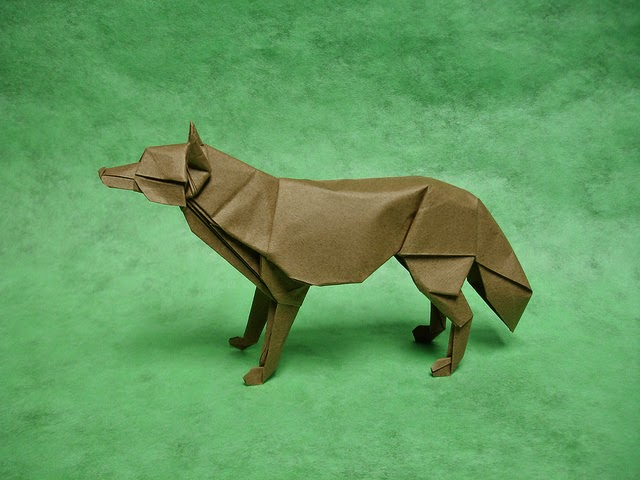 How To Make An Easy Origami Wolf (HD) - YouTube | 480x640