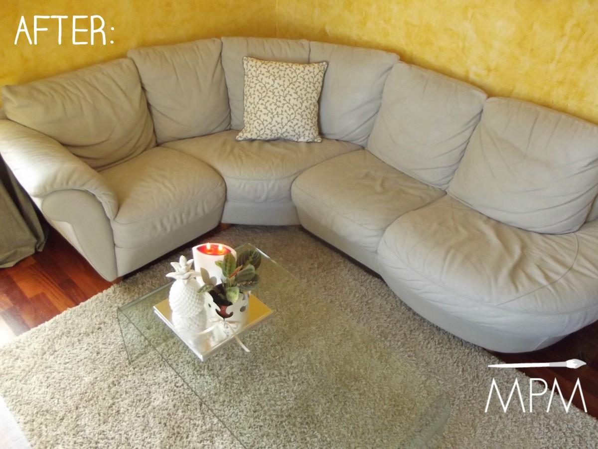 Relooking come ridipingere un divano in pelle con la - Divano seconda mano ...
